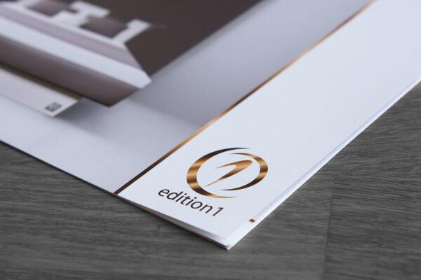 Edition1 | logo, huisstijl, brochure