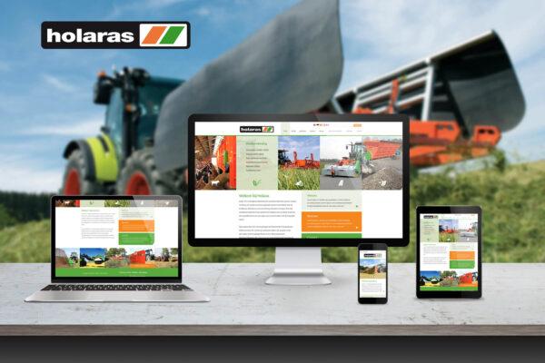 Holaras | website ontwerp