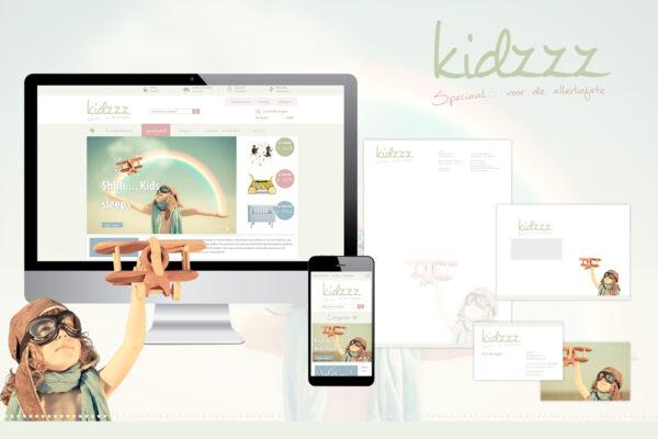 Kidzzz | logo, huisstijl, webshop