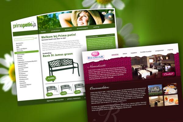 Prima patio & Hotel Reijrink | webdesign